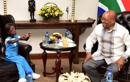 Ontlametse Phalatse visits President Jacob Zuma