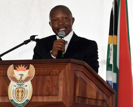 Deputy President during his speech at the commemoration of Human Rights Day in Sharpeville.  Image:Twitter