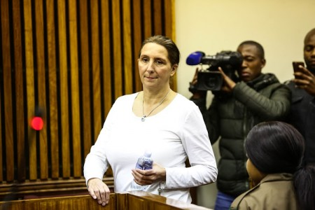 Vicki Momberg appears at the Randburg Magistrates Court in Johannesburg to apply for bail pending the appeal of her prison sentence for a racist rant that was caught on camera in 2016. Momberg was sentenced to three years. Picture: Alaister Russell/The Sunday TImes