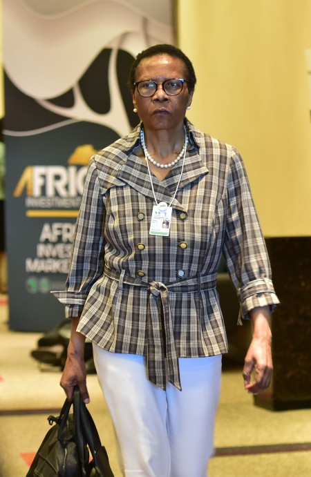 (Former Black Business South Africa Danisa Baloyi at AIF )Gauteng Premier David Makhura and President of the African Development Bank Group Dr Akinwuni Adesina and  other leaders of financial Institutions  briefing the media on expectations of the Africa Investment Forum in Sandton Convention Centre, Johannesburg. 07/11/2018 Kopano Tlape GCIS
