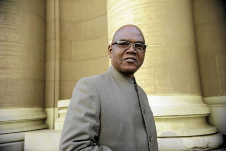 Former crime intelligence head Richard Mdluli leaves the South Gauteng High Court in Johannesburg where he is facing charges of murder. Photo Thulani Mbele. 09/06/2015