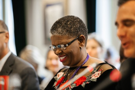 Mayor Zandile Gumede attends the C40 Steering committee meeting at #Together4Climate on October 23rd 2017 in Paris.  The first-ever Together4Climate event – taking place in Paris on October 22 and 23, 2017 – brings together mayors of the world's great cities and leaders of the world's most influential companies in an effort to make our communities cleaner, healthier and more sustainable, while simultaneously growing the green economy and promoting innovation.  © Sarah Bastin / C40 Cities