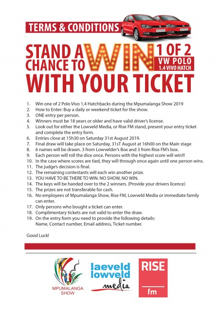 Win a car Terms and Conditions