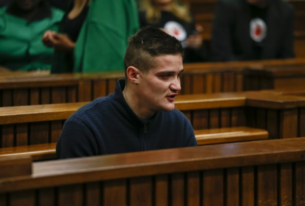 PRETORIA, SOUTH AFRICA - SEPTEMBER 9: Dros rape accused, Nicholas Ninow sit inside the dock at the North Gauteng High Court ahead of his trial on Monday, 9 September 2019. Ninow is accused of raping a seven-year-old girl at the Dros restaurant's bathroom in Silverton, East of Pretoria. (Photo by Gallo Images / Phill Magakoe)